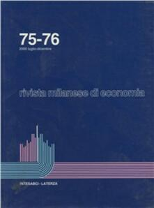 Daddyswing.es Rivista milanese di economia vol. 75-76 Image