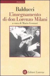 Libro L' insegnamento di don Lorenzo Milani Ernesto Balducci