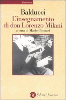 L' insegnamento di don Lorenzo Milani - Ernesto Balducci - copertina