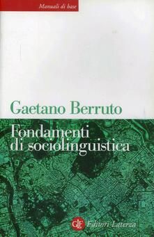 Fondamenti di sociolinguistica - Gaetano Berruto - copertina