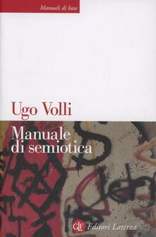 Manuale di semiotica - Ugo Volli - copertina