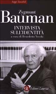 Foto Cover di Intervista sull'identità, Libro di Zygmunt Bauman, edito da Laterza