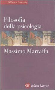 Libro Filosofia della psicologia Massimo Marraffa