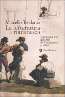 La letteratura romanesca. Antologia di testi dalla fine del Cinquecento al 1870.pdf