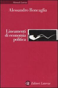 Libro Lineamenti di economia politica Alessandro Roncaglia