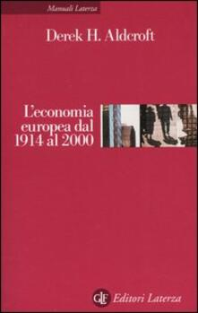 Radiospeed.it L' economia europea dal 1914 al 2000 Image