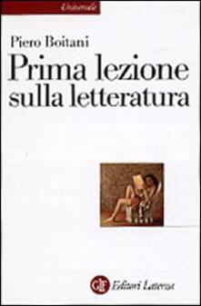 Prima lezione sulla letteratura - Piero Boitani - copertina