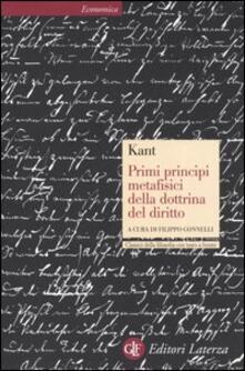 Antondemarirreguera.es Primi principi metafisici della dottrina del diritto. Testo tedesco a fronte Image