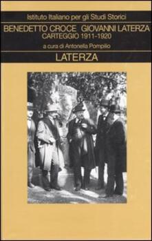 Carteggio. Vol. 2: 1911-1920. - Benedetto Croce,Giovanni Laterza - copertina