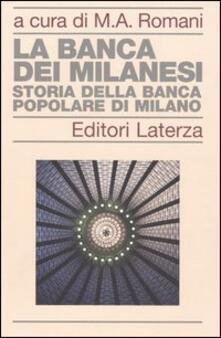 Filippodegasperi.it La banca dei milanesi. Storia della Banca Popolare di Milano Image