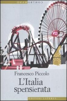 L' Italia spensierata - Francesco Piccolo - copertina
