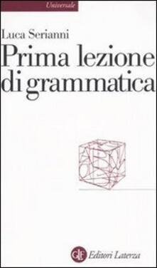 Prima lezione di grammatica - Luca Serianni - copertina