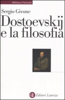 Dostoevskij e la filosofia - Sergio Givone - copertina