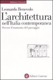 Parcoarenas.it L' architettura nell'Italia contemporanea ovvero il tramonto del paesaggio Image