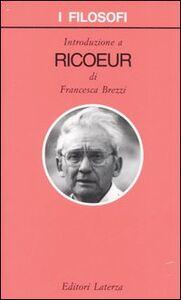 Libro Introduzione a Ricoeur Francesca Brezzi