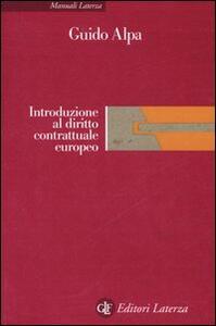 Introduzione al diritto contrattuale europeo