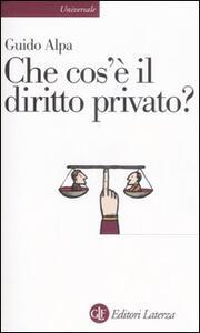 Che cos'è il diritto privato?