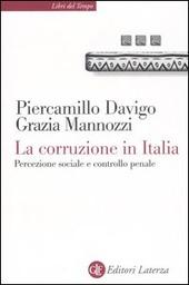La corruzione in Italia. Percezione sociale e controllo penale