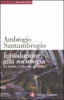 Librisulladiversita.it Introduzione alla sociologia. Le teorie, i concetti, gli autori Image