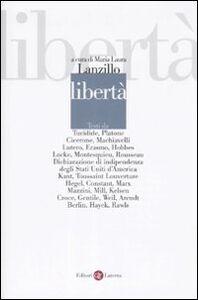 Foto Cover di Libertà, Libro di  edito da Laterza