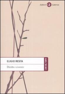 Diritto vivente - Eligio Resta - copertina