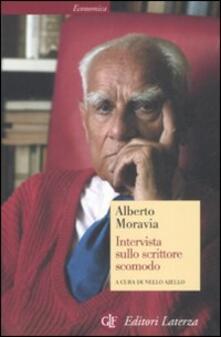 Intervista sullo scrittore scomodo - Alberto Moravia - copertina