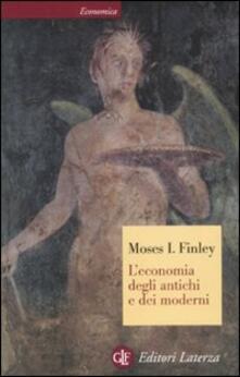 L' economia degli antichi e dei moderni - Moses I. Finley - copertina