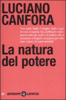 La natura del potere - Luciano Canfora - copertina