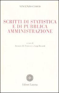 Libro Scritti di statistica e di pubblica amministrazione Vincenzo Cuoco