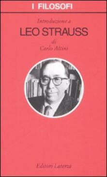 Ristorantezintonio.it Introduzione a Leo Strauss Image