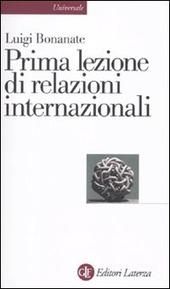 Prima lezione di relazioni internazionali