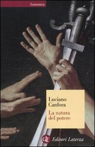 Libro La natura del potere Luciano Canfora