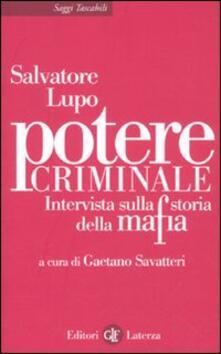 Rallydeicolliscaligeri.it Potere criminale. Intervista sulla storia della mafia Image