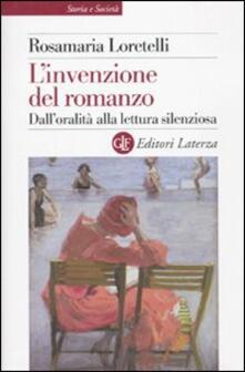 L invenzione del romanzo. Dalloralità alla lettura silenziosa.pdf