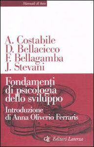 Libro Fondamenti di psicologia dello sviluppo