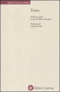 Libro Teatro Vincenzo Padula
