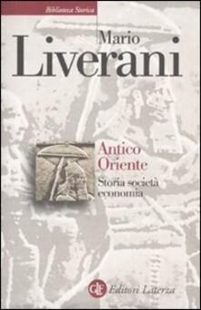 Antico Oriente. Storia, società, economia - Mario Liverani - copertina