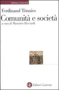 Libro Comunità e società Ferdinand Tönnies