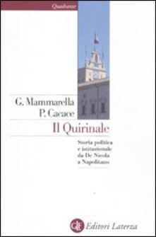 Il Quirinale. Storia politica e istituzionale da De Nicola a Napolitano.pdf