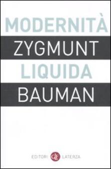 Modernità liquida - Zygmunt Bauman - copertina