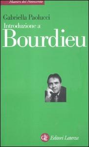 Libro Introduzione a Bourdieu Gabriella Paolucci