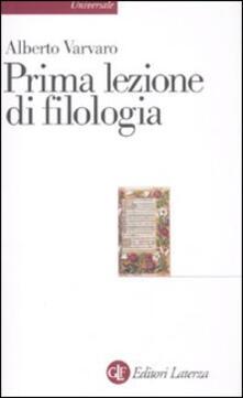Secchiarapita.it Prima lezione di filologia Image