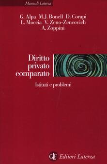 Diritto privato comparato. Istituti e problemi - copertina