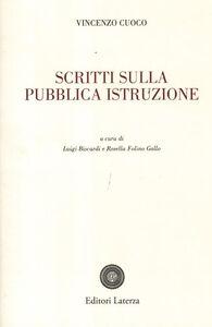 Libro Scritti sulla pubblica istruzione Vincenzo Cuoco