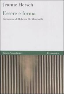 Essere e forma - Jeanne Hersch - copertina