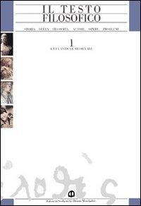 Il Il testo filosofico. Per le Scuole superiori. Vol. 3\1: L'età contemporanea: L'Ottocento. - Cioffi Fabio Luppi Giorgio Vigorelli Amedeo - wuz.it