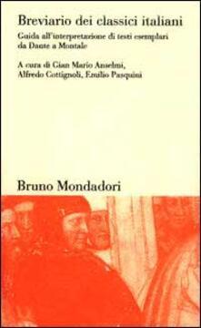 Winniearcher.com Breviario dei classici italiani. Guida all'interpretazione di testi esemplari da Dante a Montale Image