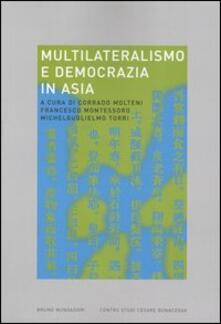 Multilateralismo e democrazia in Asia - copertina