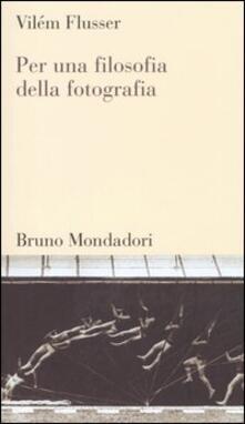 Per una filosofia della fotografia - Vilém Flusser - copertina