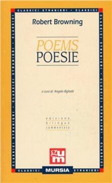 Poems-Poesie. Edizione bilingue - Robert Browning - copertina